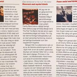 Ebba Bergkvist & The Flat Tire Band - recension i Sweden Rock Magazine