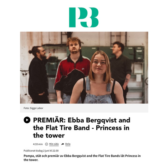 Ebba Bergkvist & The Flat Tire Band i P3