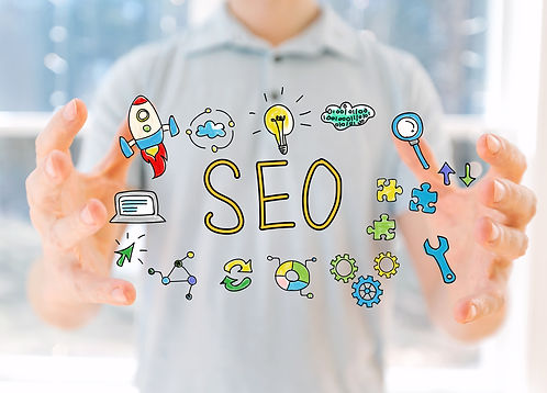 Image showing SEO and digital marketing elements that go into a digital marketing plan
