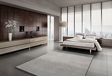 Beautiful bedroom with skyline