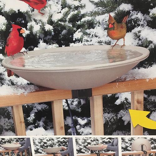 API Heated Bird Bath w/Deck Mount