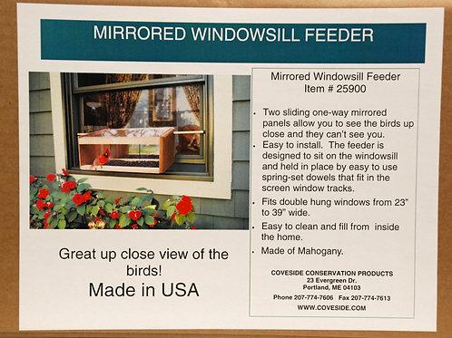Windowsill Feeder w/one-way Mirror