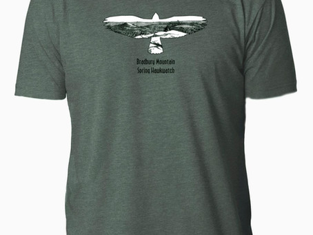 2018 Bradbury Mountain Spring Hawkwatch T-Shirts have arrived!