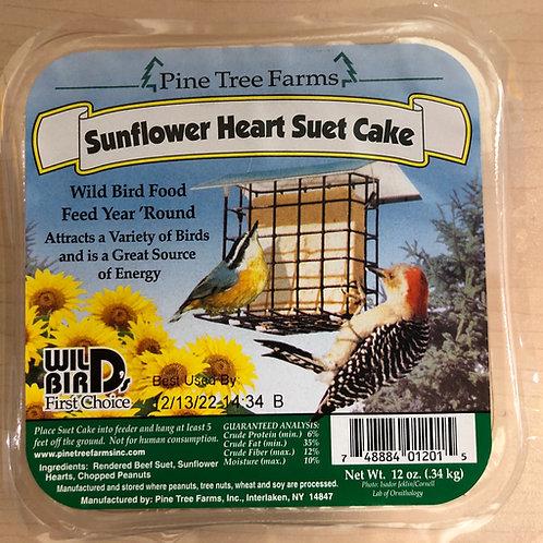 Sunflower Heart Suet Cake 12oz.