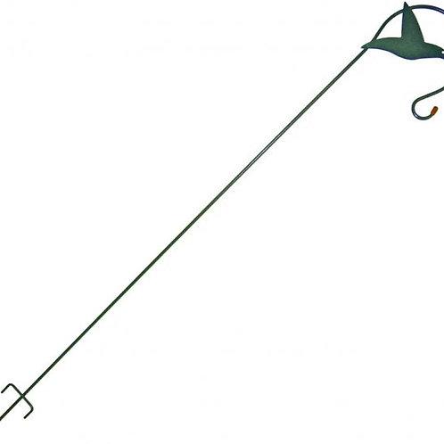 Hummingbird Feeder Pole w/Silhouette