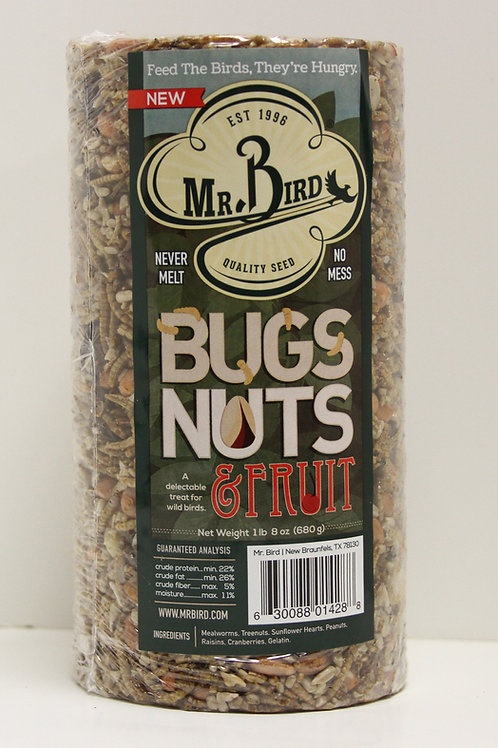 Mr. Bird Bugs, Nuts, & Fruit Cylinder 24oz