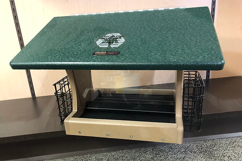 Large Recycled Hopper w/suet cages