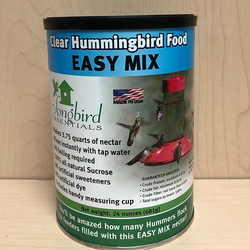 Clear Hummingbird Food