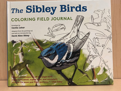 Sibley Birds Coloring Field Journal