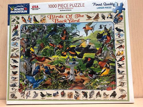 Birds of the Backyard 1000 Piece Puzzle