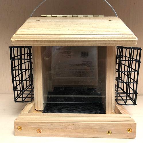 Small Cedar Hopper w/suet cages
