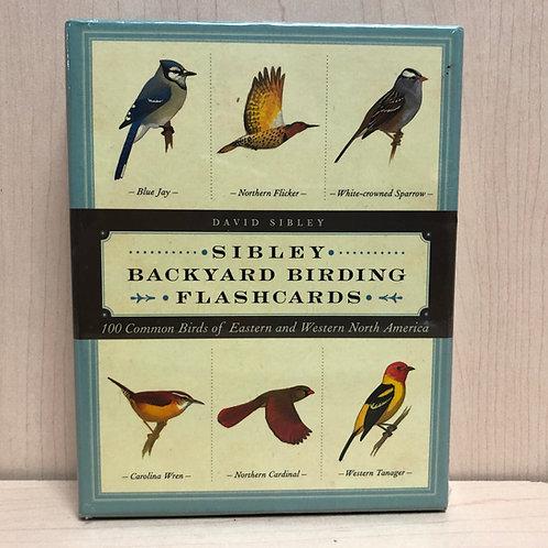 Sibley Backyard Birding Flashcards