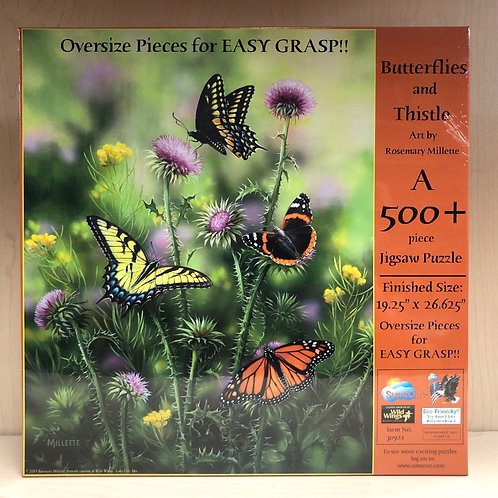 Butterflies & Thistle Puzzle 500+pc