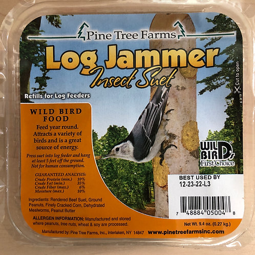 Log Jammer Insect Suet Plug