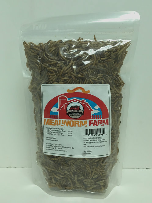 Dried Mealworms 8oz