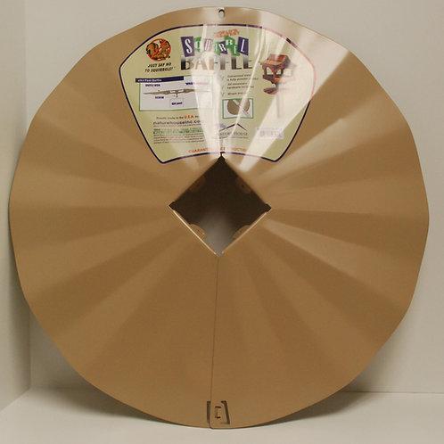 4x4 Post-mount Disk Squirrel Baffle