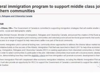 """民局公布新移民项目---加拿大版的""""开发北大荒""""计划解读"""