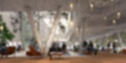 Centro Oberhausen 4* hotel lobby, Ben Dieckmann architects BDA