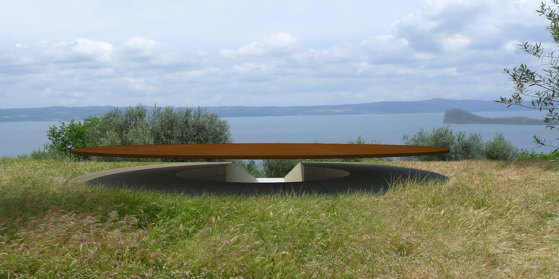 Land Art Villa Caviciana Ben Dieckmann architects