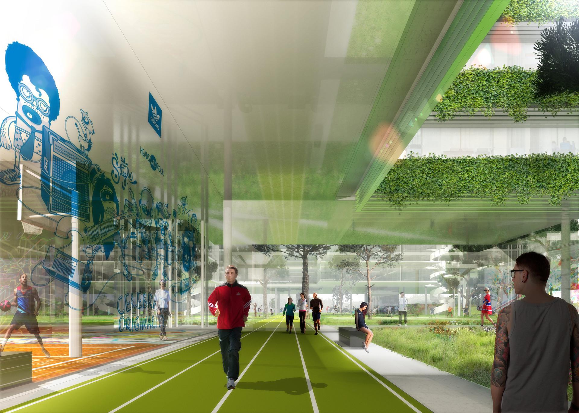 adidas campus Ben Dieckmann architects