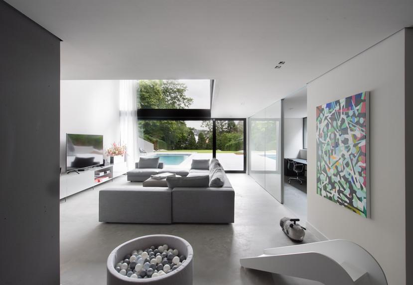 living basement / garden level