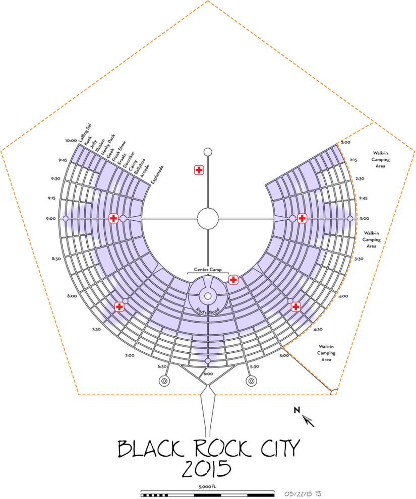 Black Rock City Urbanplan Ben Dieckmann architects