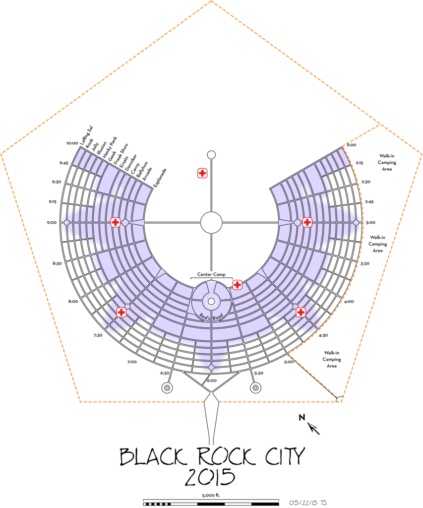 Black Rock City Urbanplan Ben Dieckmann architects