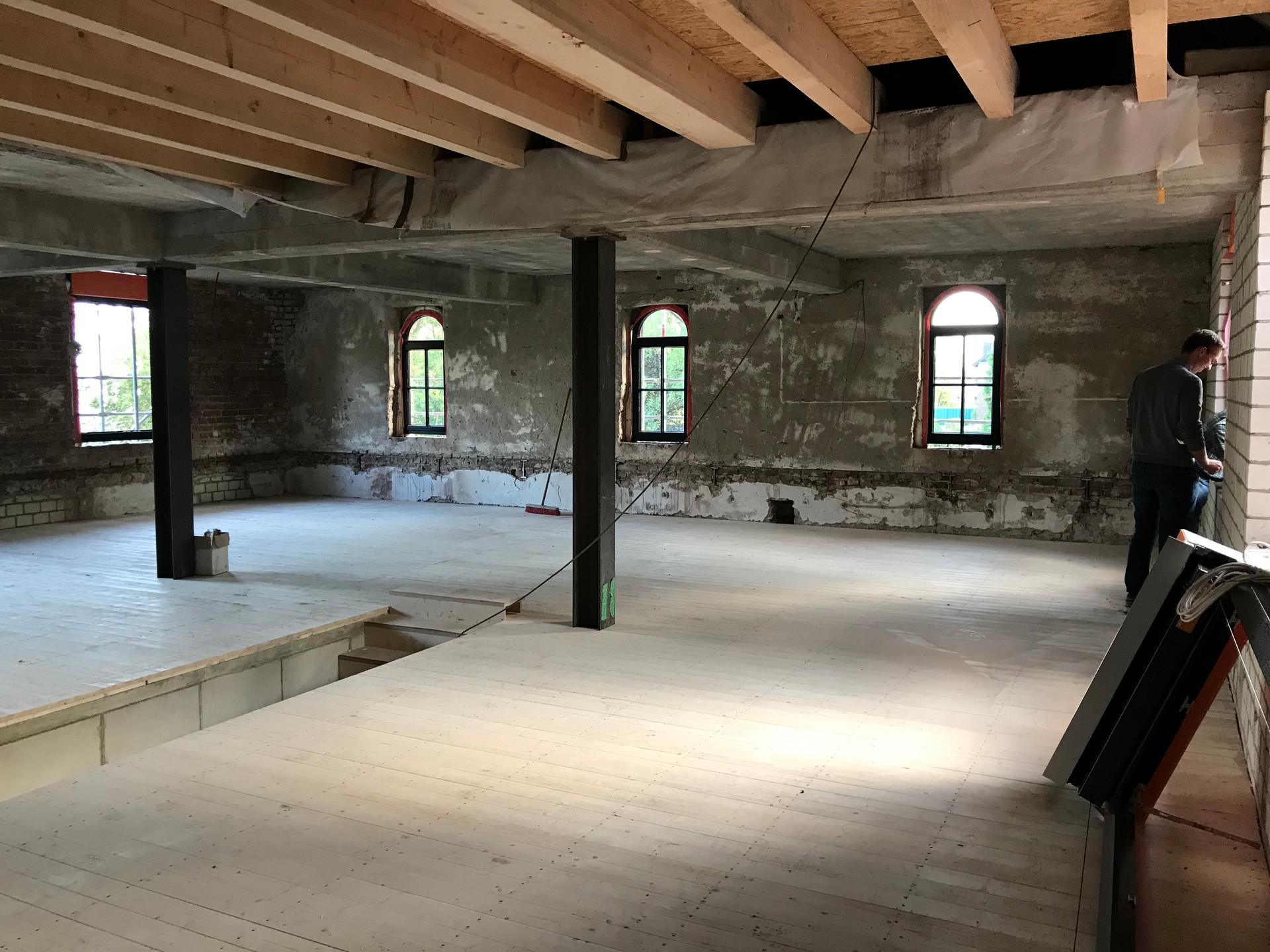 Baustelle Obergeschoss