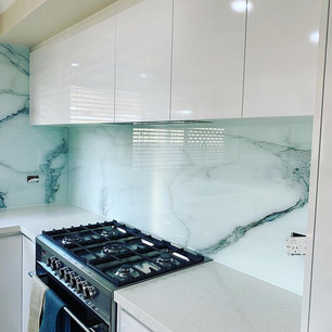 Before and after with the marble glass s