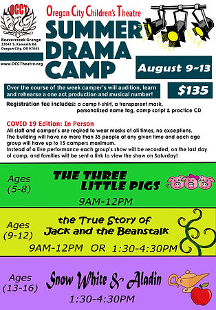 SUMMER CAMP AUGUST