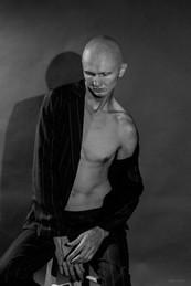 Black and white male portrait