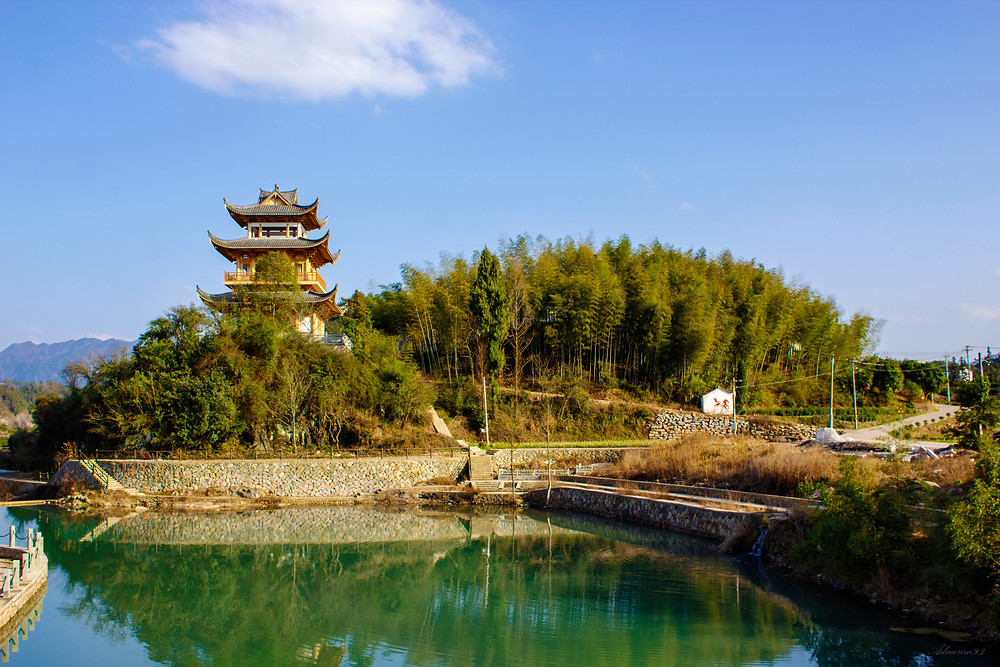 Temple, Wuyi, China
