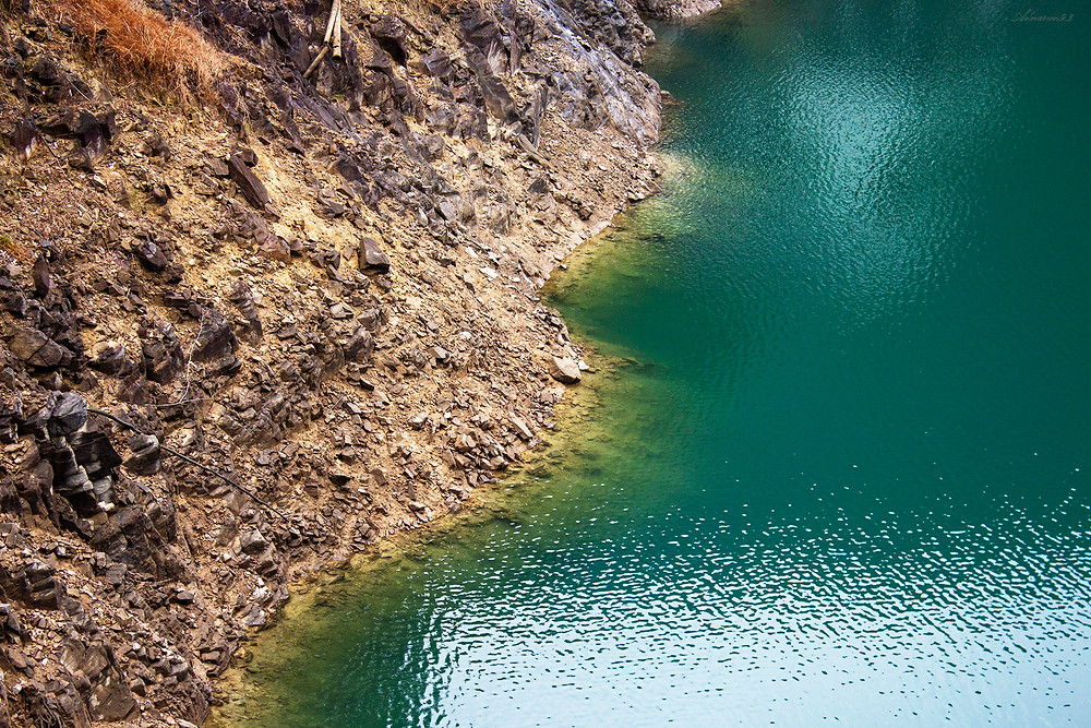 blue and green reservoir, Wuyi, China