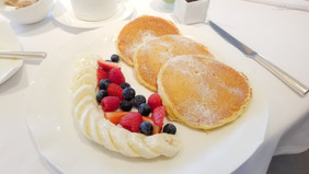Buttermilk Pancakes with Assorted Fruit_ Jean Georges