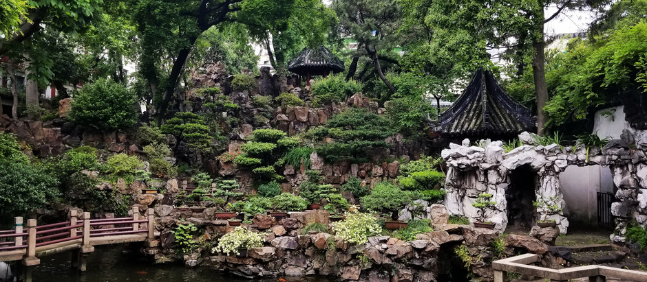 A Muggy Day in Yuyuan Gardens