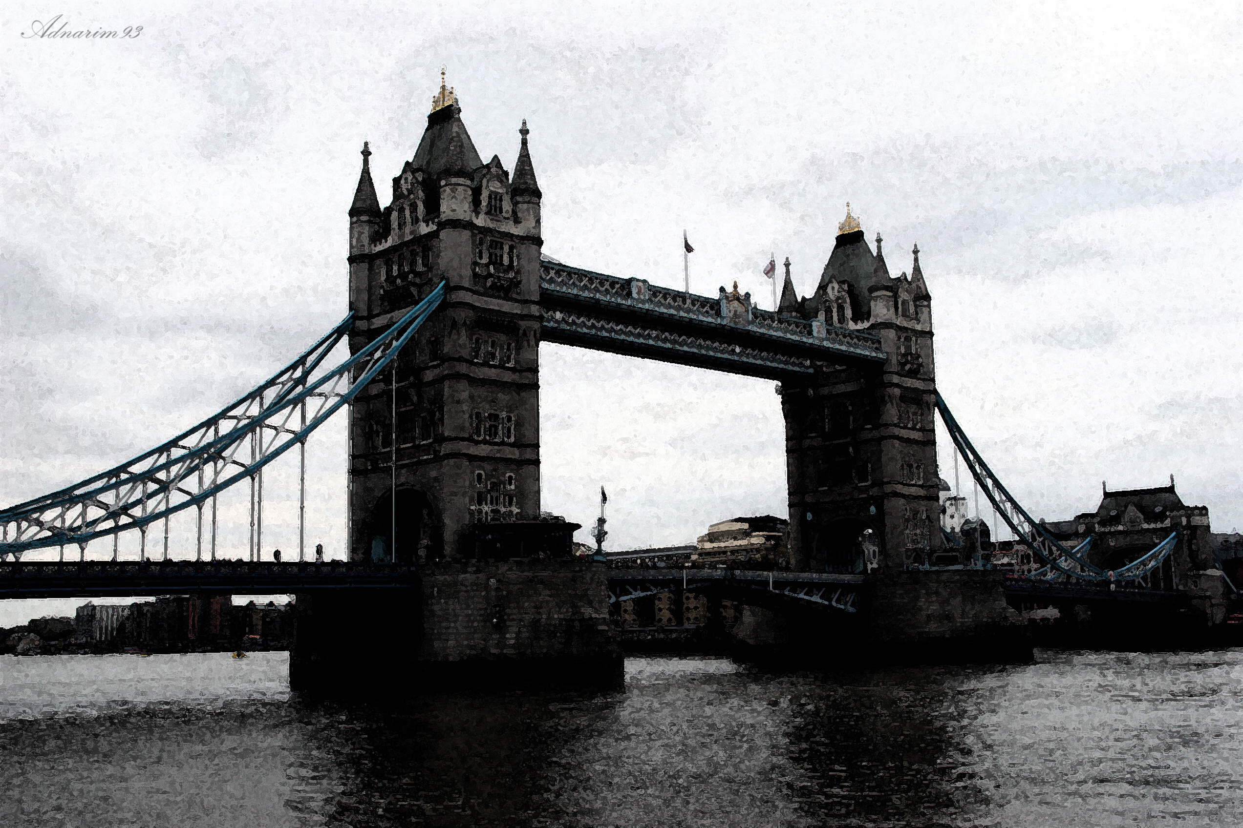 London Tower Bridge, Black and White