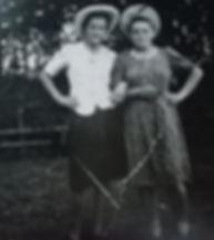 05 Leokadia Rozalewicz with friend 1947.