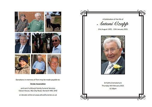 Antoni Czapp - Order of Service 04.02.20