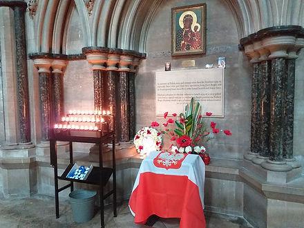 Polish shrine at SJB Remembrance Sunday