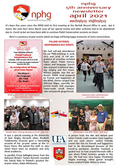 Newsletter April 2021 5 Year Anniversary