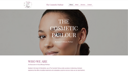 The Cosmetic Parlour Website created by Gloucestershire Web Design & PC Services