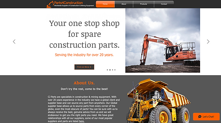 Parts4Construction Homepage