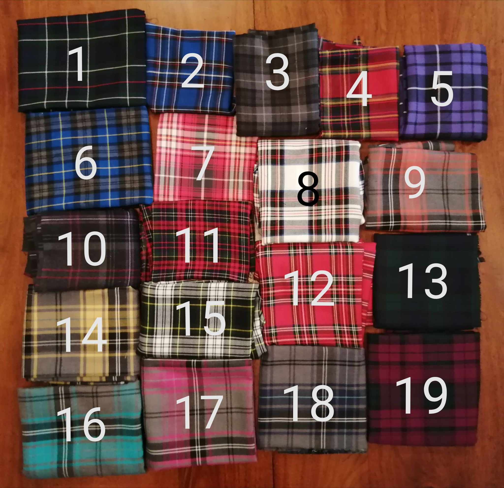Our tartan selection