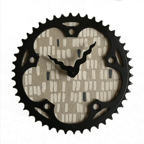 Mod Linen Bicycle Clock | Large