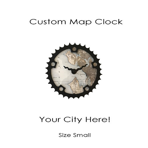 Custom Map Clock | Small
