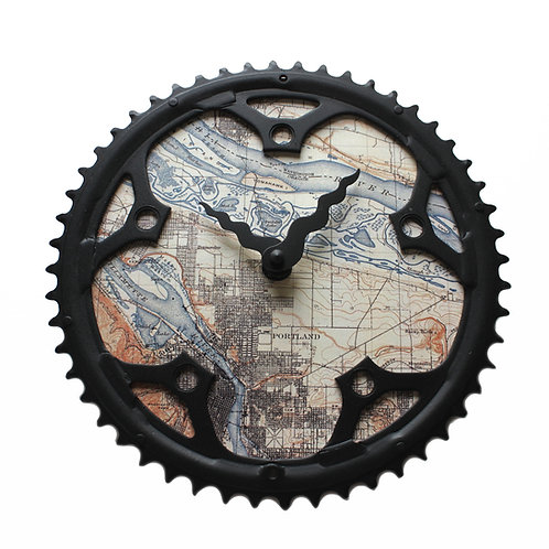 Portland Bicycle Clock | Large