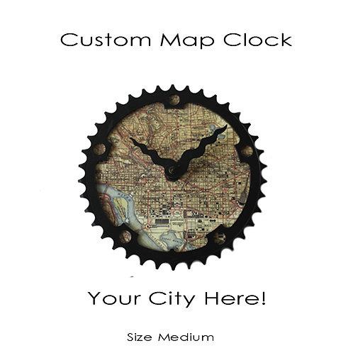 Custom Map Clock | Medium