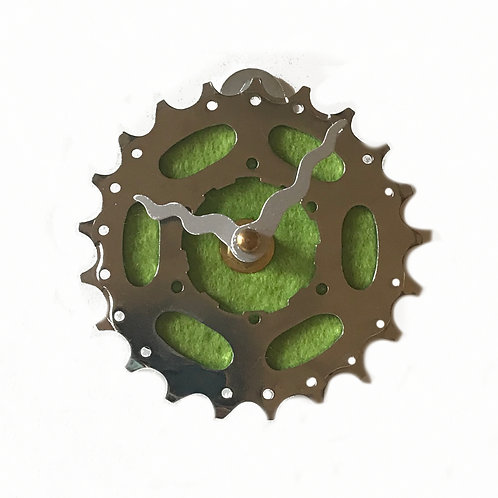 Green Wool Bicycle Clock | Tiny