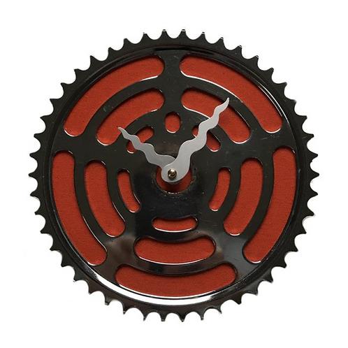 Vintage Orange Bicycle Clock | Large