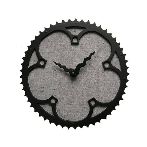 Campagnolo Gray Bicycle Clock | Large